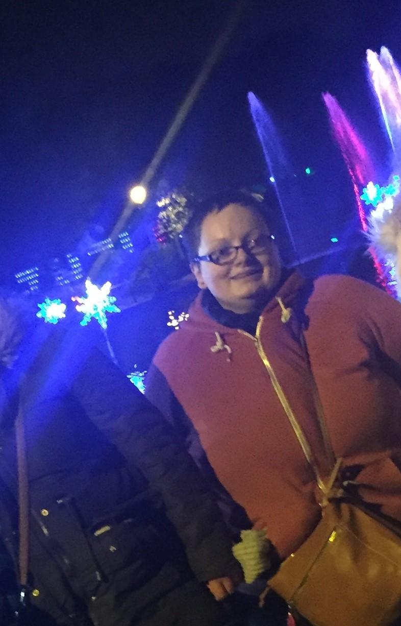 Bronwyn at the Sunderland Lights