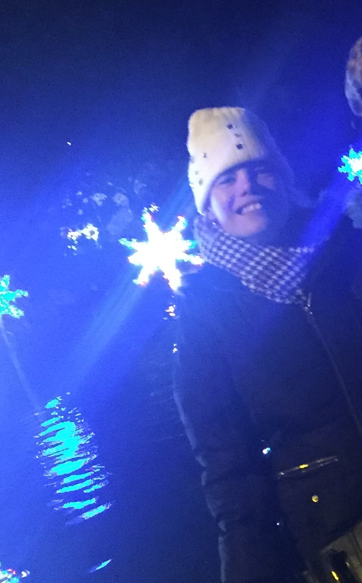 Emma at the Sunderland Lights
