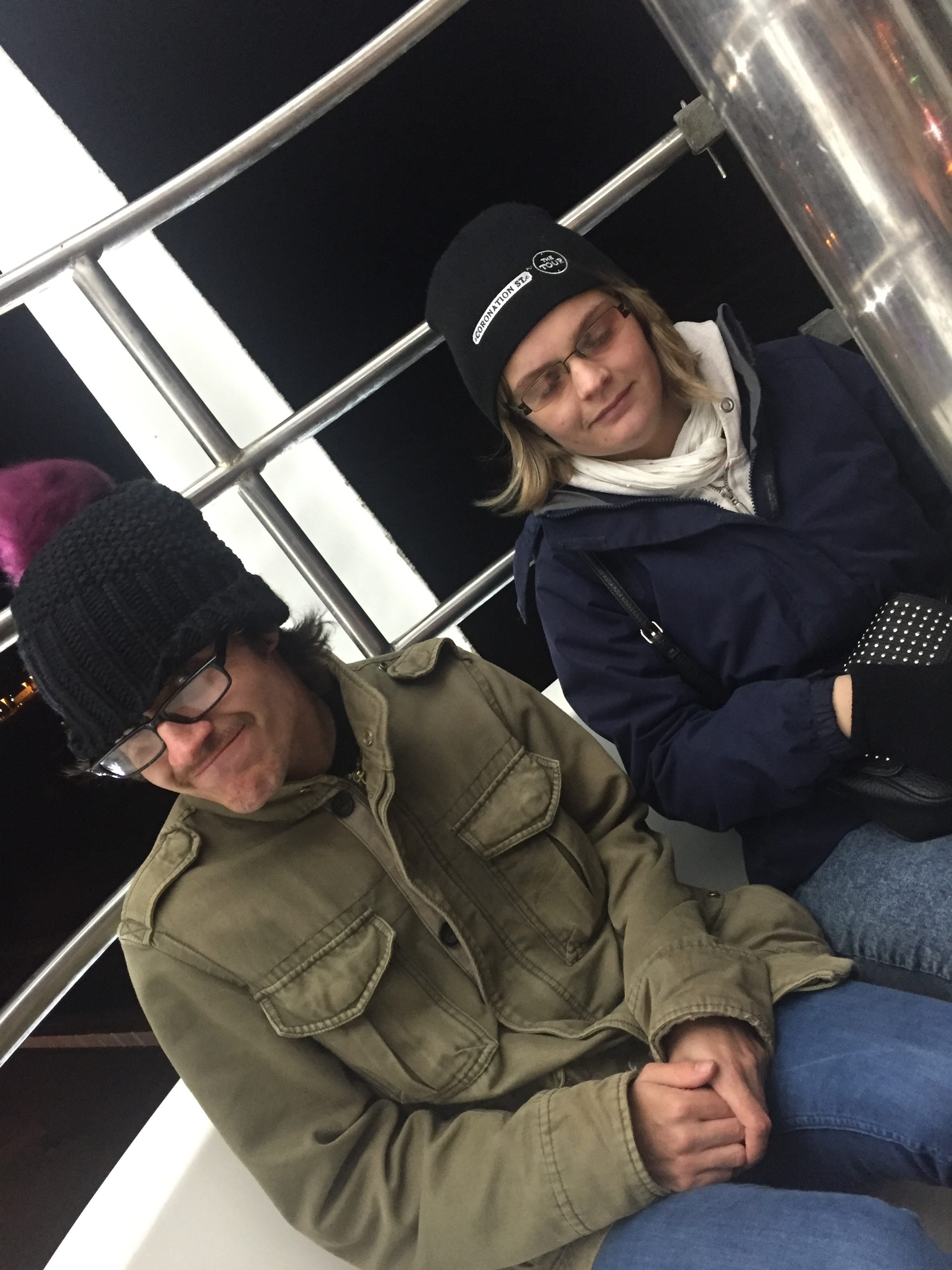 Josh and Clare on the big wheel at the Sunderland lights