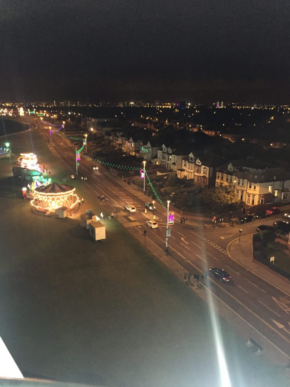 View from the Big Wheel at the Sunderland Lights